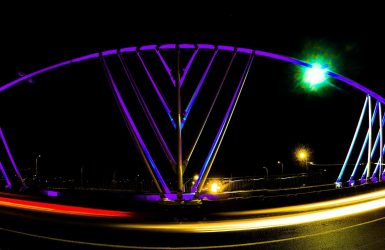 Bagatelle bridge at night Mauritius