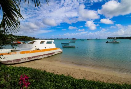 Boats in Grand Baie