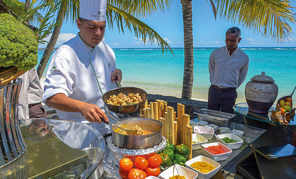 Open air cooking class in Mauritius