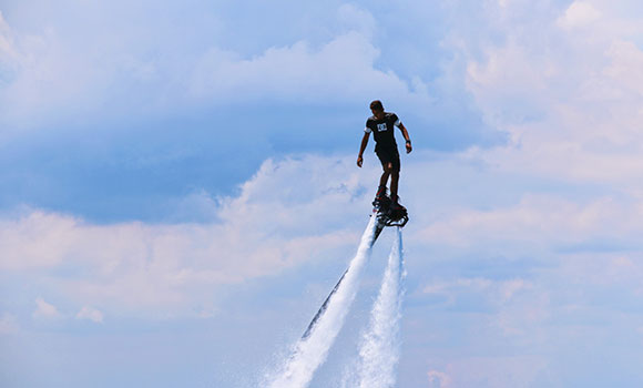 Flyboarding activity Mauritius
