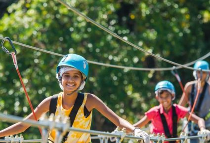 Things to do with children in Mauritius - Zipline